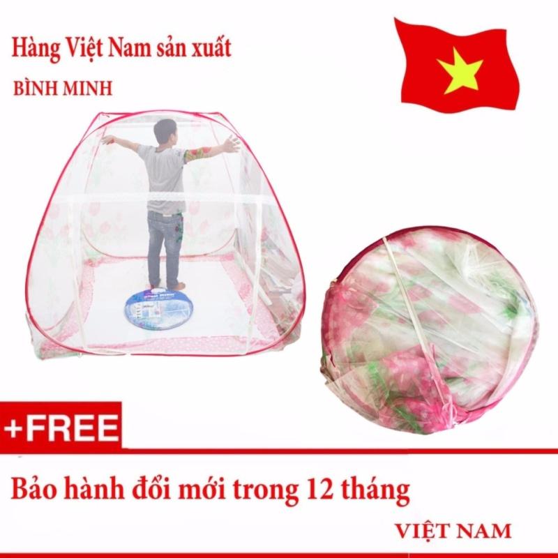 Màn chụp chống muỗi tự bung cao cấp loại 2 cửa 1m8 x 2m siêu bền (Loại đỉnh rộng) - Hàng Việt Nam