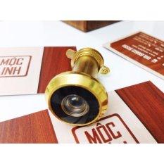 Mắt thần gắn cửa M2V, cửa dầy từ 30-55mm (vàng) hợp kim, có nắp đậy