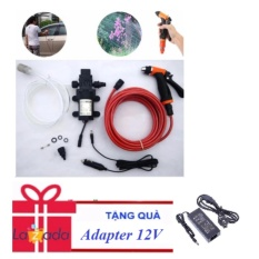 Mua May Bơm Rửa Xe Tăng Ap Lực Nước Mini 12V Kem Nguồn Adapter Trực Tuyến Rẻ