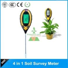 Máy đo, dụng cụ đo độ PH đất 4 trong 1 tự động (PH, độ ẩm, nhiệt độ, ánh sáng)