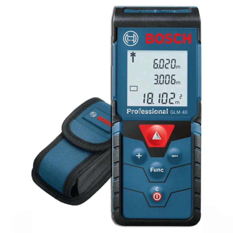 Máy đo khoảng cách bằng tia laser Bosch GLM 40 (Đen phối xanh)