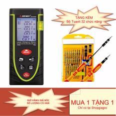 Máy đo khoảng cách bằng tia laser SNDWAY SW-M40 phạm vi 40m chính xác tuyệt đối + Tặng bộ dụng cụ Tuavit 32 chức năng JK6066