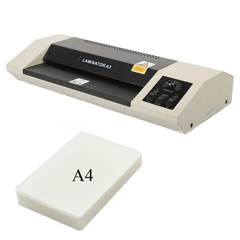 Máy ép Plastic Laminator A3 330C + 1 xấp giấy ép A4 100 tờ