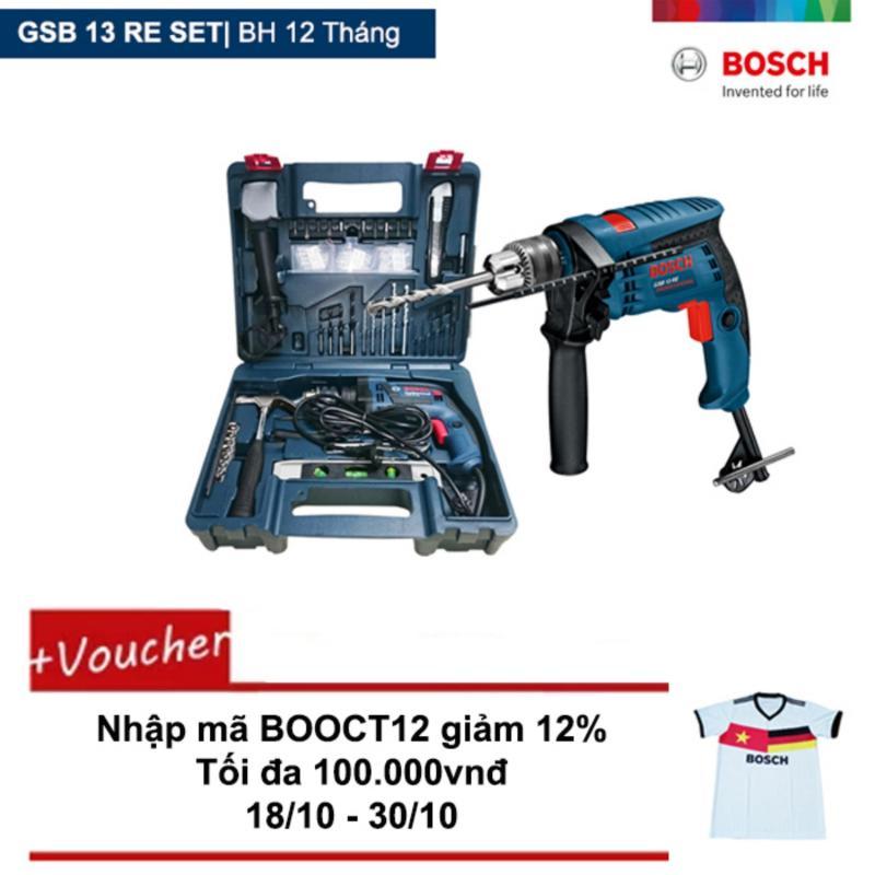 Máy khoan Bosch GSB 13 RE Set + Tặng áo thun Bosch