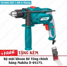 Ôn Tập May Khoan Động Lực Cầm Tay 650W Total Tg106136E Tặng Kem Chổi Than Theo May Va Bộ Mũi Khoan Be Tong Makita D 05175 Total
