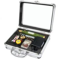 Bộ máy khoan, mài, cắt, điêu khắc, chà, đánh bóng mini cầm tay, đa năng, 80 món, hộp nhôm WLXY P-800 (DO032 TQ) - Luân Air Models