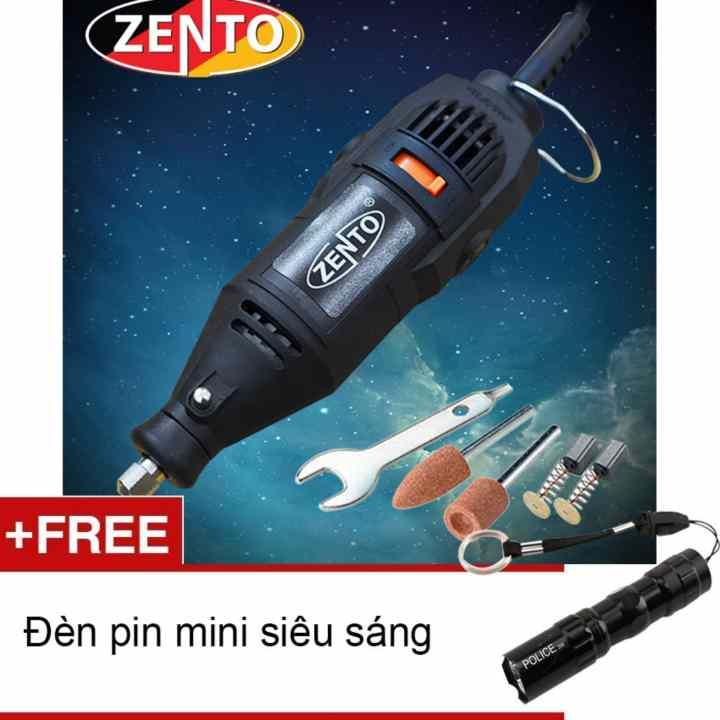 Máy khoan, mài, khắc mini 6pcs Zento SFC-10B-3 (Tặng đèn pin mini Zento)