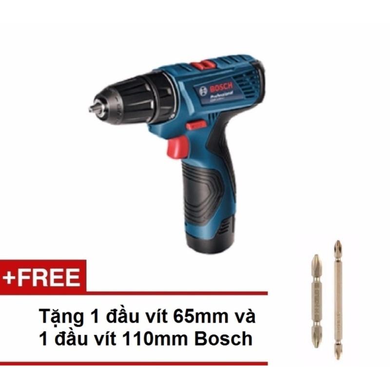 Máy vặn vít pin Bosch GSR 120-LI Professional kèm phụ kiện +Tặng 1 đầu vít ngắn và đầu vít dài