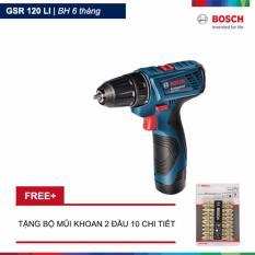 Bán May Khoan Vặn Vit Dung Pin Gsr 120 Li Xanh Tặng Bộ Mũi Khoan 2 Đầu 10 Chi Tiết Bosch Bosch Rẻ