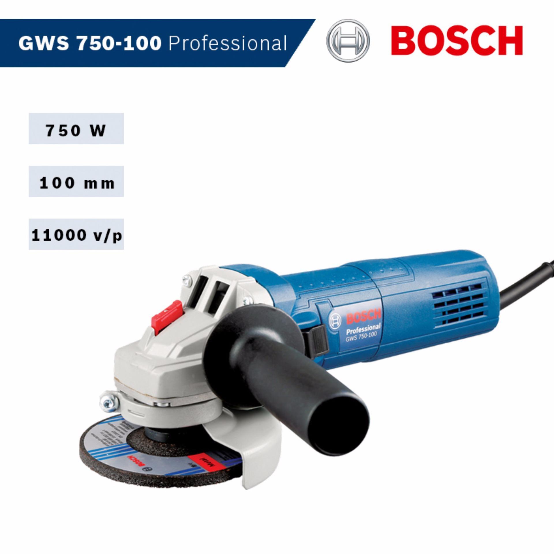 Máy mài góc Bosch GWS 750-100 Professional - HEAVY DUTY