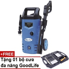 Máy rửa xe áp lực tự hút nước Kachi + Tặng bộ cưa đa năng GoodLife