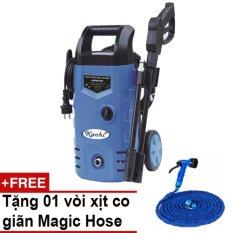 Máy rửa xe áp lực Kachi + Tặng vòi xịt giãn nở thông minh Magic Hose