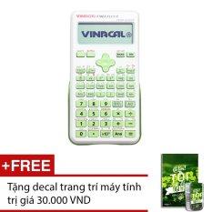 May Tinh Vinacal 570Es Plus Ii Xanh La Tặng 1 Decal Trang Tri May Tinh Mới Nhất