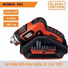 Ôn Tập May Vặn Vit Đa Năng Dung Pin Li Ion Black Decker As36Ln 3 6V 1 5Ah 6 25Mm Đi Kem Bộ Phụ Kiện 11 Chi Tiết Black Decker