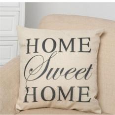 Hình ảnh May_zz Home Sweet Printed Throw Pillow Case Pillow Case Sofa Homedecor Linen Cushion Cover - intl