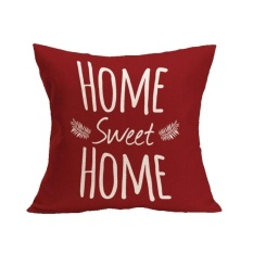 Hình ảnh MEGA Home Sweet Home Sofa Bed Home Decoration Festival Pillow Casecushion Cover - intl