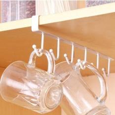 Hình ảnh Metal Cabinet Hanging Rack Bathroom Kitchen Organization Free Nail Seamless Hook - intl