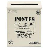 Mã Khuyến Mại Hộp Thư Thiếc Co Khoa Treo Tường Vintage Hộp Thư Bưu Tin Chuồn Thấm Nước Mới Mau Trắng Kem Quốc Tế Rẻ