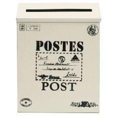 Bán Hộp Thư Thiếc Co Khoa Treo Tường Vintage Hộp Thư Bưu Tin Chuồn Thấm Nước Mới Mau Trắng Kem Quốc Tế Rẻ Nhất