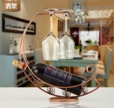 Hình ảnh Rượu Vang kim loại Bình Lưu Trữ Giá Đỡ Champagne Giá Thanh Đứng Chân Đế Đen-quốc tế