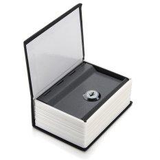 Mini Home Security Dictionary Book Secret Safe Storage Key Lock Box Cash +2 Keys Black - intl