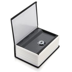 Mini Home Security Dictionary Book Secret Safe Storage Key Lock Box Cash +2 Keys Black - intl