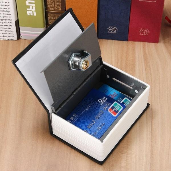 Từ Điển Bảo Mật Mini Home Sách Khóa Lưu Trữ Két An Toàn Hộp Có Khóa Tiền Mặt + 2 Phím Màu Xanh