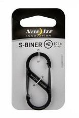 Móc chìa khóa Nite Ize S-biner #2 (Đen)