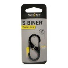Móc chìa khóa Nite Ize S-Biner SlideLock #2 (Đen)