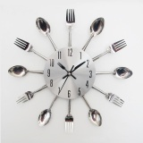 Cửa Hàng Modern Design Sliver Cutlery Kitchen Utensil Wall Clock Spoon Fork Clock Intl World Deal Trực Tuyến