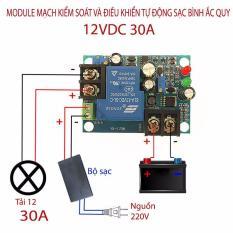 Hình ảnh Module mạch kiểm soát và điều khiển tự động sạc bình ắc quy YX1708 -12VDC 30A