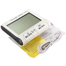 Moonar MÀN HÌNH LCD Kỹ Thuật Số Nhiệt Kế Ẩm Kế Trong Nhà Ngoài Trời Max Min Nhiệt Độ Độ Ẩm