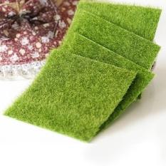 Hình ảnh Moonar Home Garden Decor Garden Grass Lawn Moss Miniature Craft Pot Fairy Dollhouse 15*15cm - intl