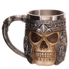 Bán Moonar Stainless Steel Skull Head Coffee Tea Water Cup Intl Rẻ
