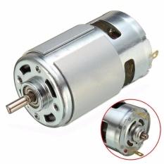 Motor 775 loại đặc biệt có bạc đạn và quạt tản nhiệt, trục vát chữ D, 12~24V, chế khoan điện đa năng cực mạnh - Luân Air Models