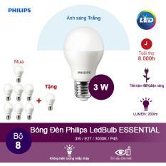 Giá Bán Mua 7 Tặng 1 Bong Đen Philips Led Ess Ledbulb 3W 6500K Đuoi E27 230V P45 Anh Sang Trắng Nhãn Hiệu Philips