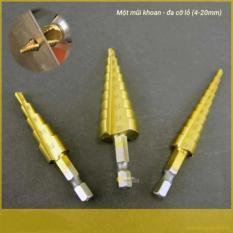 Hình ảnh Mũi khoan tháp 5 bước thẳng 4-12mm chuôi lục giác - Kmart