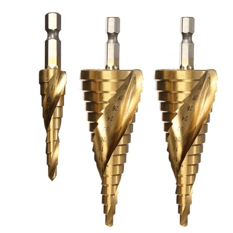 Mũi khoét lỗ hợp kim- Bộ mũi khoan tháp rãnh xoắn bằng thép HSS4246