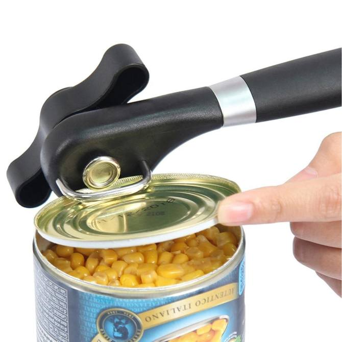 Hình ảnh Multifunction Stainless Steel Safety Side Cut Manual Can Tin Opener - intl