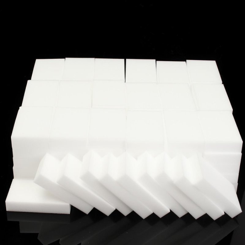 Nano 100 Miếng Bọt Biển Ma Thuật Miếng Chùi Thần Thánh Nhà Bếp Làm Sạch Chà Rửa Đĩa Bọt Biển Ma Thuật Đa Chức Năng Bọt Làm Sạch Tẩy Chất Liệu: Melamine Màu Sắc: Trắng Kích Thước: 10*6*2 Cm