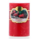 Nến thơm trụ tròn hương dâu tây D5H8 Miss Candle FtraMart 5x8cm FTM-NQMD5H8 (Đỏ)