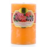 Nến thơm trụ tròn hương kẹo ngọt ngào D5H8 Miss Candle FtraMart 5x8cm FTM-NQMD5H8 (Cam)