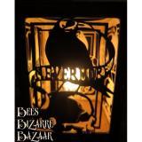 Nevermore Poe Raven Laser Cut Oak Lamp Steampunk