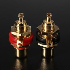 MỚI 2 cái Mạ Vàng RCA Phono Nữ Khung Xe Bảng Điều Khiển Gắn Jack Cắm Ổ Cắm Cổng Kết Nối-quốc tế