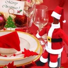 Hình ảnh Giáng Sinh mới Trang Trí Màu Đỏ Rượu Có Giá Đỡ Quần Áo Với Ông Già Noel Nón Xmas Nhà Đảng quà tặng Năm Mới trang trí -quốc tế