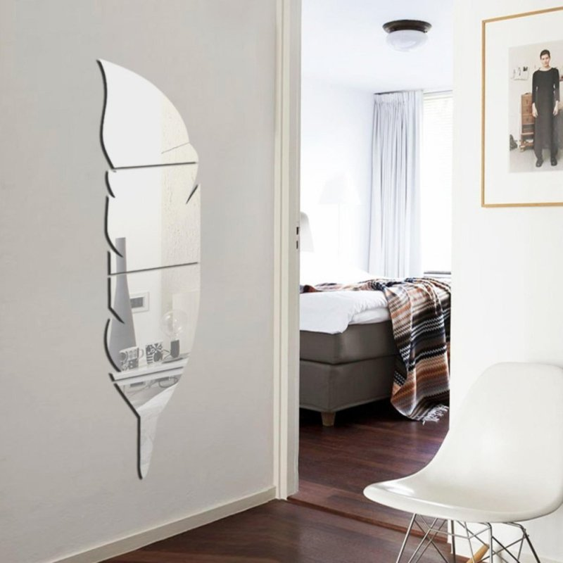 New Removable Home Mirror Wall Stickers Decal Art Vinyl Room Decor DIY - intl