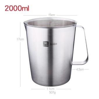 Đánh giá New Stainless Steel Cup Graduated Glass Liquid Measuring Cups 2000ML - intl ở đâu bán