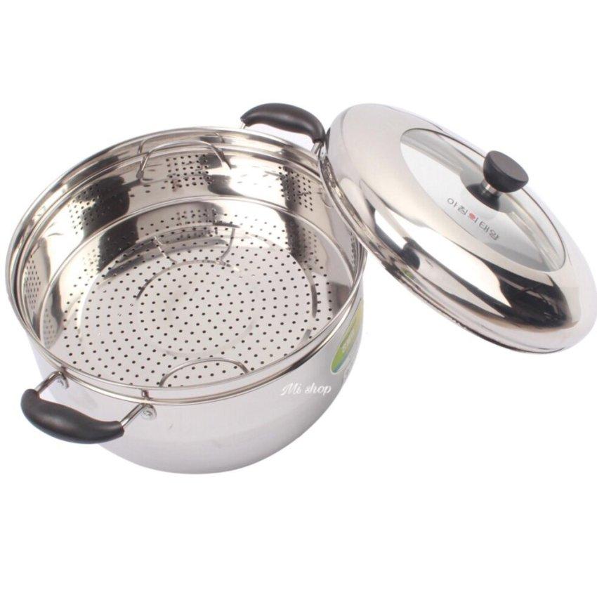 Hình ảnh Nồi hấp inox Steam Cooker 28cm Mi shop