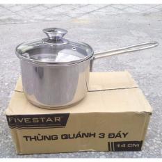 Nồi Quanh Nấu Bột Inox 3 Đay Fivestar Nắp Kinh Loại 14Cm Rẻ