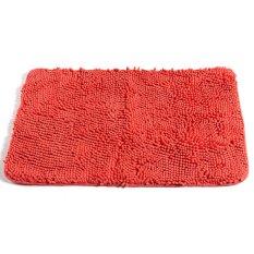 Non Slip Fluffy Bedroom Rug Bath Shaggy Door Carpet Floor Mat Chenille 80 X 50Cm Orange Red Intl Nguyên